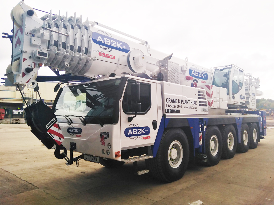 NEW AB2K LIEBHERR LTM 1110-5.1 'CLIMATE' CRANE IS ONE OF THE FIRST ON THE ROAD